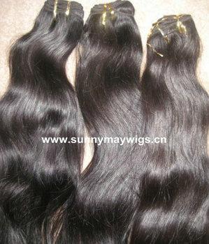 Stock Natural Color Malaysian Virgin Hair Natural Wave 7A Grade  Human Hair Extension