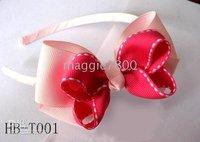 infant Headbands E Sweet Girls' Hair Accessories Baby hair bows Baby grosgrain ribbon headband 100pcs/lot