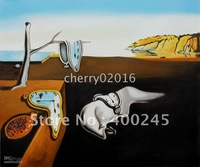Hot Deal! Famous Abstract oil painting,Home Deco Oil Painting,Persistence of Memory by Salvador dali,Museum quality,100%handmade