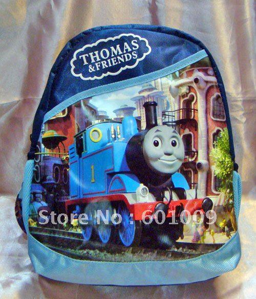 O envio gratuito de alta qualidade Nylon Thomas the Tank Engine Backpack pré escola bolsa de nova atacado e varejo(China (Mainland))
