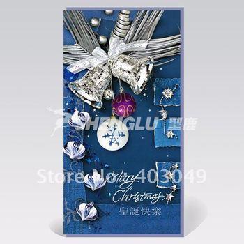 elegent and beautiful Christmas card 100pcs/lot+free shipping
