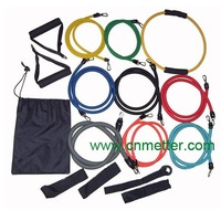 16pcs Latex Resistance Band Kit, Exercise band set, resistance band with free shipping (MT006)