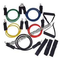 11pcs Fabric Clip Latex Resistance Band Kit with free shipping (MT003)