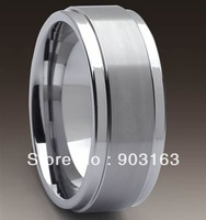 Wholesale Guaranteed 100% 9MM Tungsten middle Brushed Wedding Band Ring + free shipping