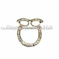 6pcs lot new free shipping metal charm eyeglass holder pin brooches ornament fashion jewelry