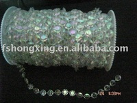 HX-0078  Wedding & Christmas & event party Decor iridescent  diamond cut  bead roll