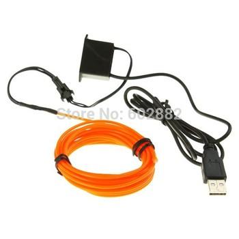 Orange+( 3 Meter) EL Wires + USB Inverter +Mix Order Available