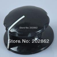 "Free Shipping 1/4"" Vintage Control Knob for Guitar/Hifi Amplifier Effect Black"