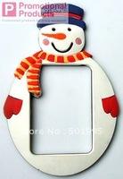 customize 3d logog design of rubber firdge sticker photo frames