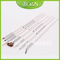 10 X 7 Pcs Nail Art Painting Brushes Gel Brushes and Dotting Pen Sythetic Nail Brush Set Free Shipping