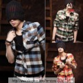 Men's plaid shirt, fashion shirts ST41