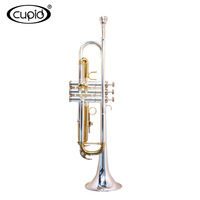 CUPID YTRU-301518 Hot-sale Professional yellow brass Silver body gold keys Deluxe Trumpet with case