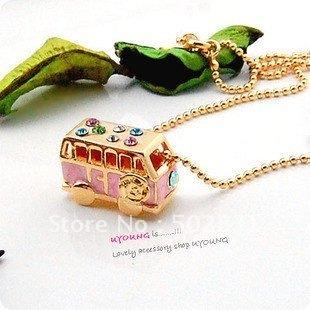 luxury car bus rich money wealth vintage necklace NL013