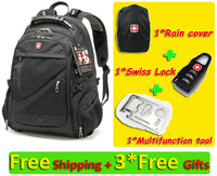 15.4'' Laptop bag SWISSGEAR WENGER backpack 1418 Free shipping Best Christmas Gift Large Space Backpack