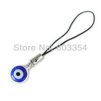 10pcs/lot Turkish blue evil eye mobile chain glaze pendent 1cm size