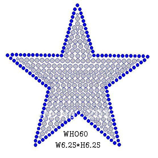 WHO60 silver star,blue outline(China (Mainland))