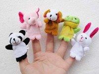 Free shipping Wholesale Plush Animal Finger Puppet Finger Wear Toys Plush Toys animal Finger Puppet 10pcs/set Fast delivery
