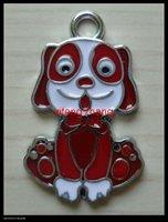 70 pcs/lot Free shipping enamel pendant(dog)