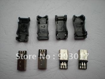 Mini USB Plug Male Socket Connector 5 Pin Plastic 20 pcs per lot