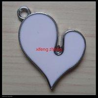60 pcs/lot Free shipping enamel pendant(heart)