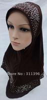 hot sell muslim rhinestone higabs,islamic hijab,arab scarf ,women scarf,muslim scarves,islamic scarves,new style scarves AH65