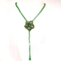 Classi Design 6mm Round Natural Aventurine Necklace for Woman
