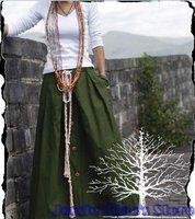 S0001 army green Free shipping high quality women's fashion Bohemia style Linen long skirt