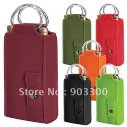 insulated wine cooler bag / 2 bottles cooler bag(China (Mainland))