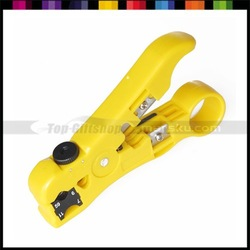 Coaxial Cable Stripper Coax Wire Stripping Cutting Crimping Tool Plier for network cable,phone line,RG59,RG6,RG7/RG11(Hong Kong)