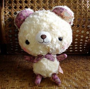 Brand New 30cm*21cm Cute Solf Plush Stuffed Bear Toy Children Bed Toy Free Shipping