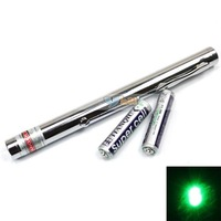Free Shipping High Quality Brand New 75mW 532nm Green Pointer Pen Open-back Steel Style -E00258