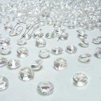 Free shipping&500 10mm 4CT Clear Diamond Confetti Wedding Decoration
