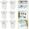 New arrival Minizone I love Dad &amp; Mom baby romper,baby short-sleeve Jumpsuit 100% cotton baby clothes 1pack 2pcs