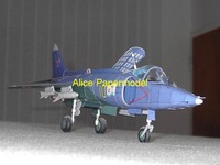 [Alice papermodel] Long 45CM 1:33 former Soviet Union vertical fighter Yak-38 plane models