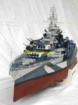 [Alice papermodel] Longest 1 meter 1:300 200 World War II US battleship USS California boat models