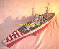 [Alice papermodel] Long 1 meter 1:200 World War II Italy battleship Conte Di Cavour warship models