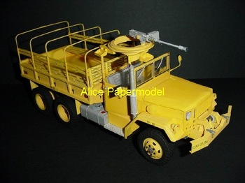 [Alice papermodel] Long 28CM 1:25 US Army M35 military truck military car models