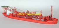 [Alice papermodel] Long 70CM 1:250 oil drilling platform science research vessel ship models