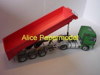 [Alice papermodel] Long 40CM 1:24 MB Actros1843 truck car models
