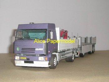 [Alice papermodel]long engineering trucks model engineering equipment models truck models car models