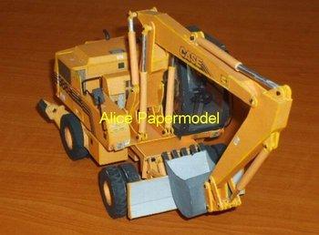[Alice papermodel]CASE 988 excavator model engineering equipment models truck models car models