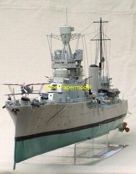 [Alice papermodel] Long 1 meter 1:150 WWII Italy destoryer Bartolomeo Colleoni battleship warship models