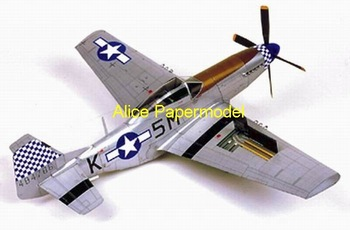 [Alice papermodel]largest 70CM 1:24 1:16 WWII US P51D P-51D Mustang fighter models