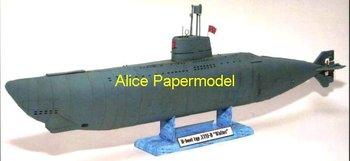 [Alice papermodel] Longest 80CM 1:100 72 48 WWII Geman U Boat U-Boot Walter papercraft submarine battleship models