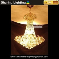[Huizhuo Lighting]Free Shipping Traditonal Goden Crystal Pendant Lamp