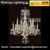 [Sharing  Lighting]10 lights modern crystal candle chandeliers lighting  for sale+free shipping