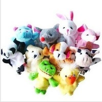 50% shipping off  Animal Plush Finger Puppet Toy,Baby Mini Finger Doll,Animal Doll,50pcs/lot,stuffed plush finger toys