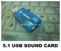 USB 2.0 3D Sound Card 5.1 computer components , usb audio adapter