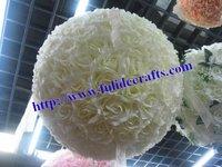 30cm foam center wedding deocration artificial flowers ball wedding kissing flower ball more color,more size 8pcs/lot
