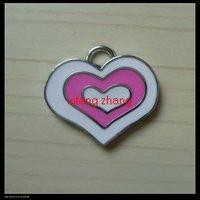 80 pcs/lot Free shipping enamel charm(heart)